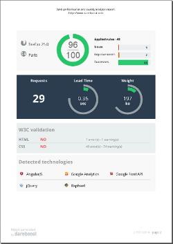 DareBoost : Analyse des performances et de la qualité