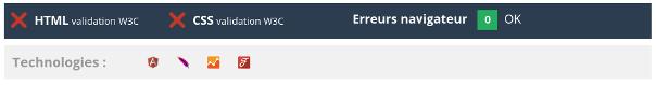 Validation w3c et erreurs console