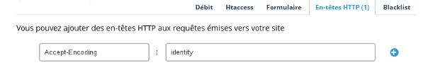 exemple de configuration d'en-tete HTTP