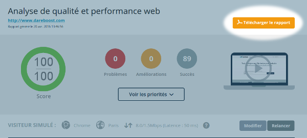 telechargement PDF de test performance