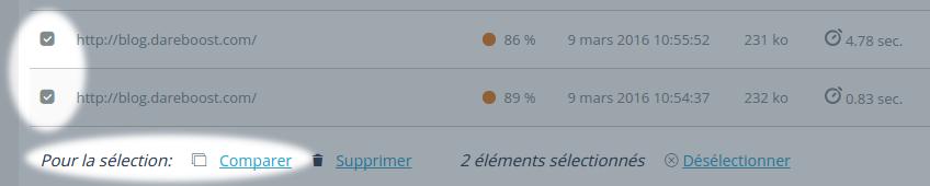 Comparaison de rapports de test de performance