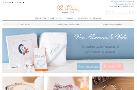 Capture du site de Merci Maman
