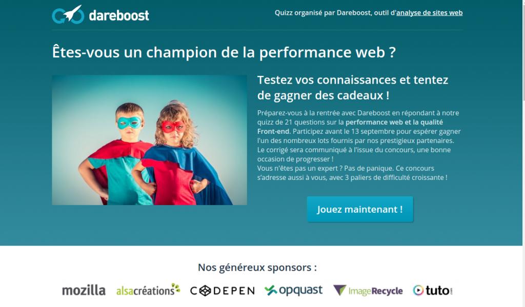 Quiz Dareboost Performance Web