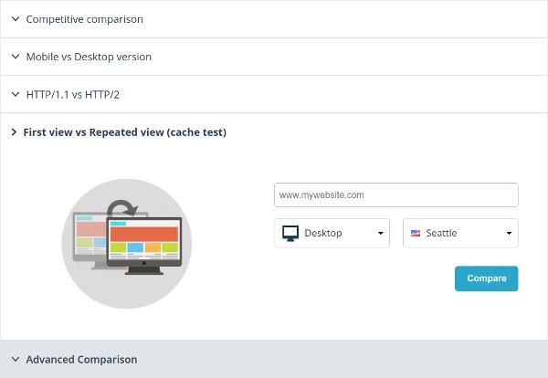 Website comparison form