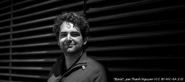 Portrait en noir et blanc de Boris Schapira, Customer Success Manager chez Dareboost
