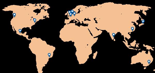 Carte les localisations de test Dareboost