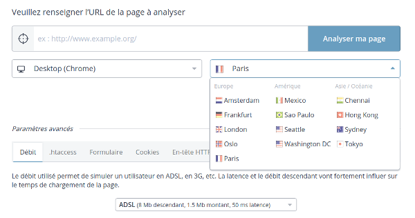13 localisations pour vos tests Dareboost