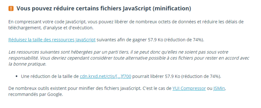 minification JavaScript