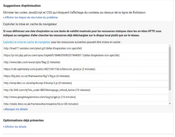 page speed insights optimisation